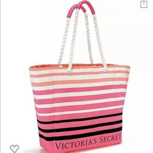 Victoria's Secret Large Summer Beach Tote Bag NEW